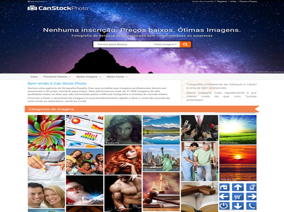Indicação de amigo fotógrafo vale aumento da comissão no Can Stock Photo — Foto: Reprodução/ Can Stock Photo
