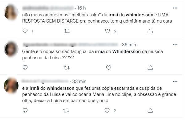 Fãs acusam Hagda Kerolayne de copiar música de Luísa Sonza (Foto: Reprodução/Instagram)