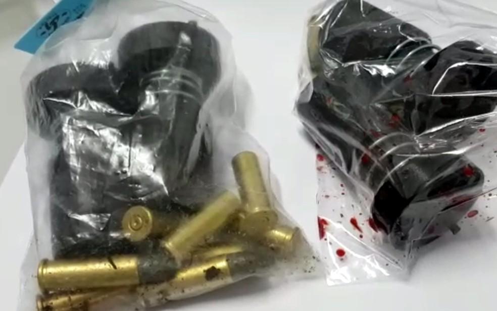 Munições apreendidas estavam dentro do carro do atirador, em Campinas (Foto: Felipe Boldrini/EPTV)