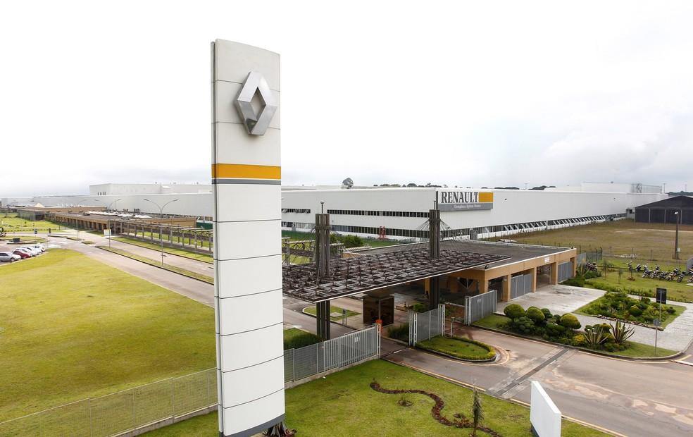 Fábrica da Renault em São José dos Pinhais, no Paraná — Foto: Divulgação