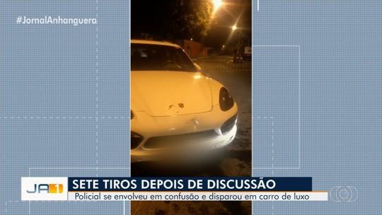 PM é suspeito de atirar contra carro de luxo após discussão em pastelaria de Goiânia