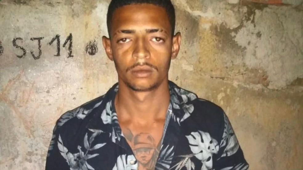 Caislan foi preso na noite desta terça-feira (30) — Foto: Reprodução/TV Gazeta