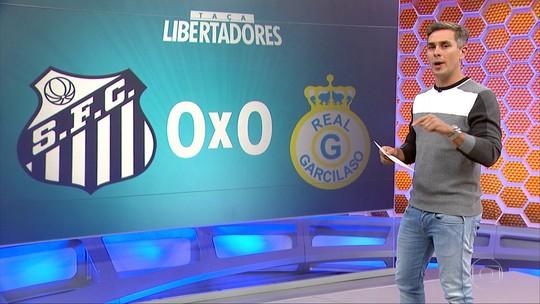 Vídeo: Santos empata sem gols com o Real Garcilaso