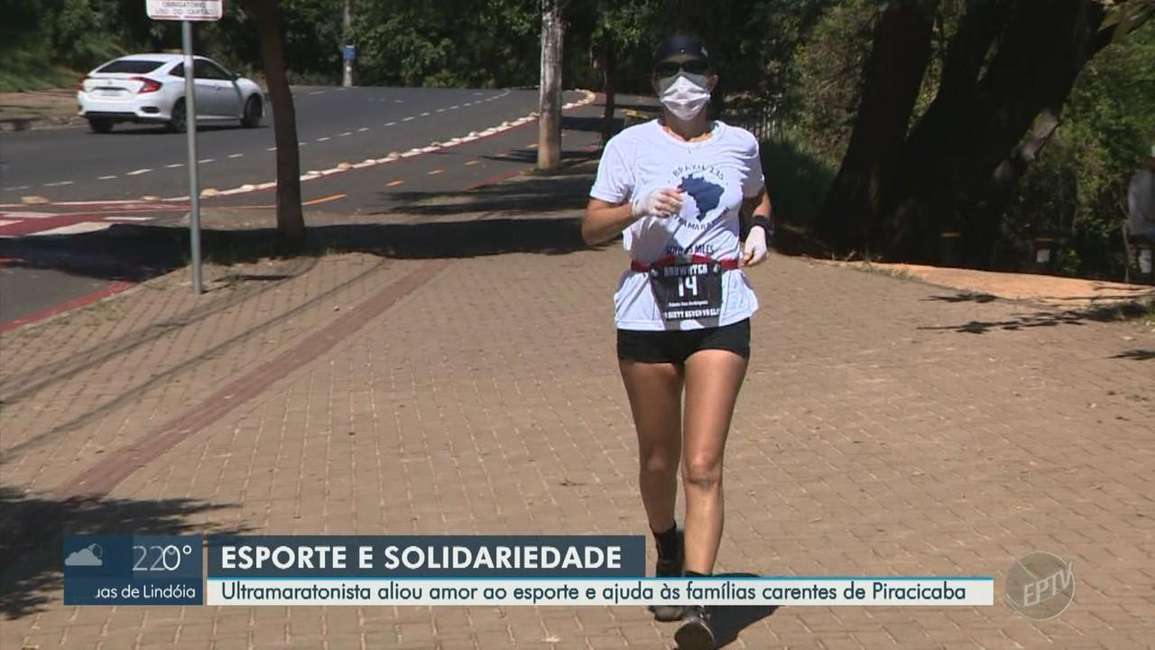 Ultramatonista de Piracicaba usa o esporte para possibilitar doações à famílias carentes