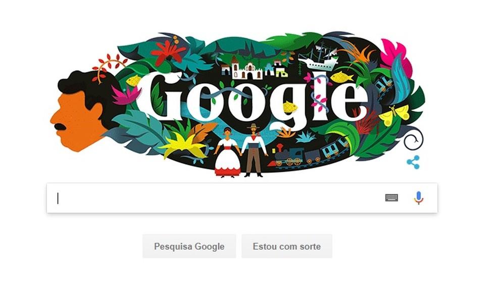 Doodle do Google homenageia Gabriel García Márquez  (Foto: Reprodução)