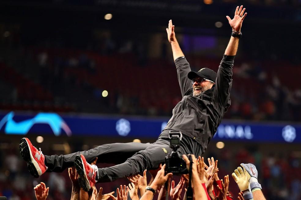 Campeão europeu, Jürgen Klopp é um dos favoritos ao prêmio — Foto: Getty Images