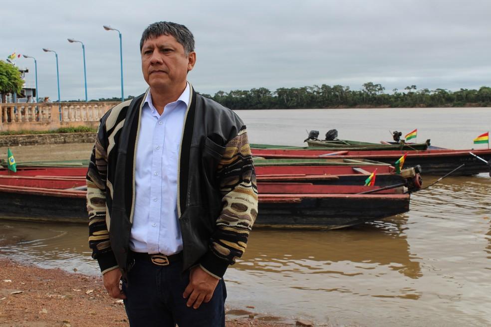 Cônsul boliviano Alexander Guzmán (Foto: Júnior Freitas / G1 RO )