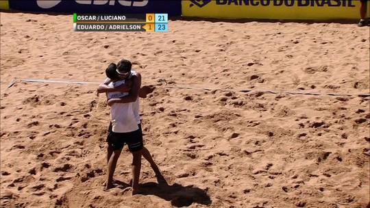 Pontos finais de Eduardo/Adrielson 2 x 0 Luciano/Oscar pela disputa de bronze
