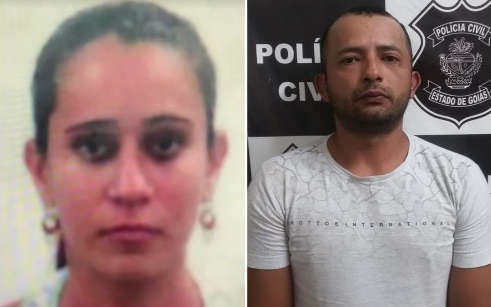 Segundo policia, professora foi morta com mais de 25 facadas pelo namorado — Foto: TV Anhanguera/Reprodução e Polícia Civil/Divulgação