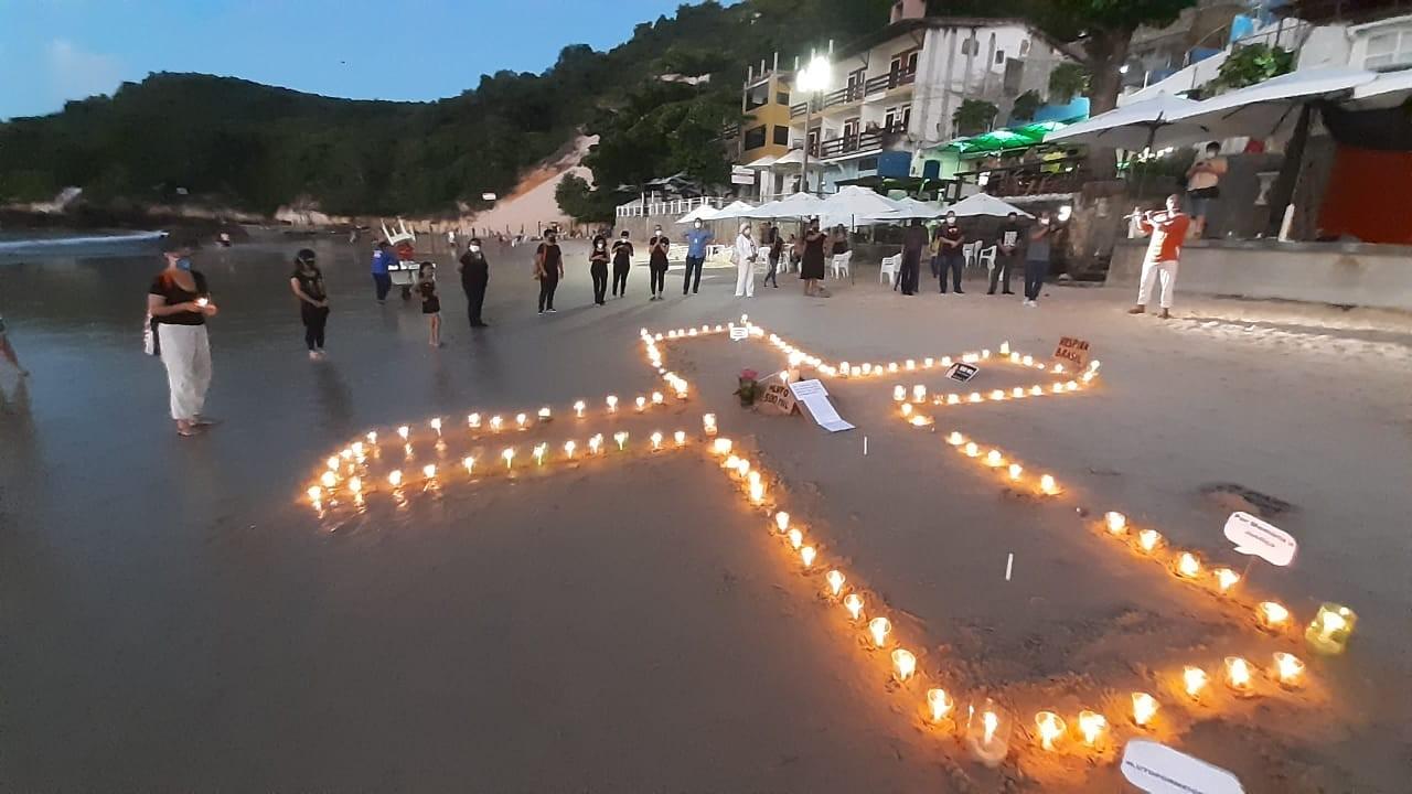 Ato em Natal homenageia mais de 500 mil mortos pela Covid no Brasil