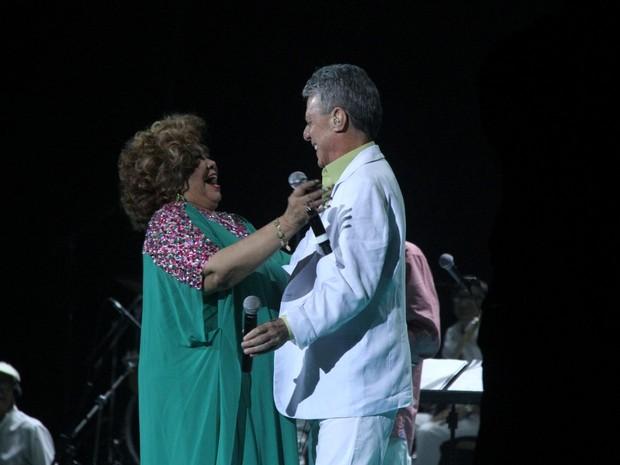 Alcione e Chico Buarque em show no Rio (Foto: Thyago Andrade/ Brazil News)
