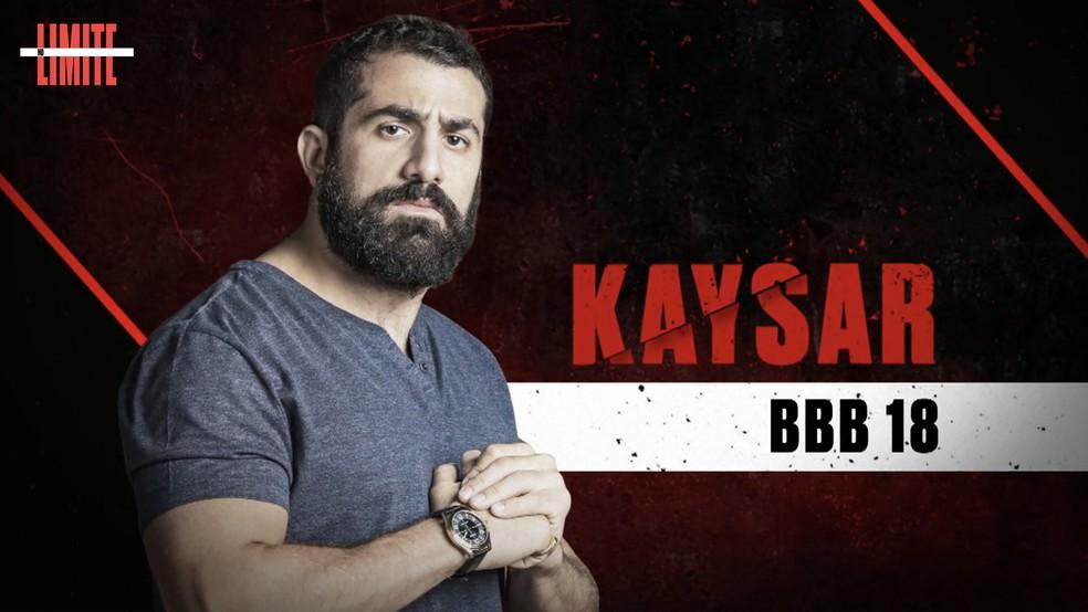 Kaysar é um dos participantes do 'No Limite' ? Foto: Globo