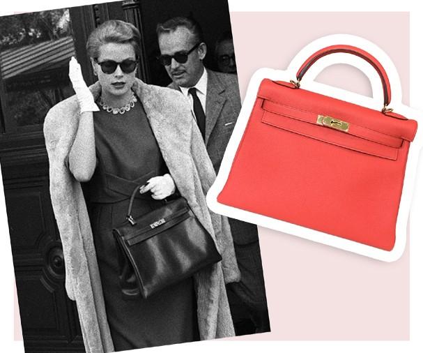 Grace Kelly e a bolsa Kelly, da Hermès (Foto: Reprodução)