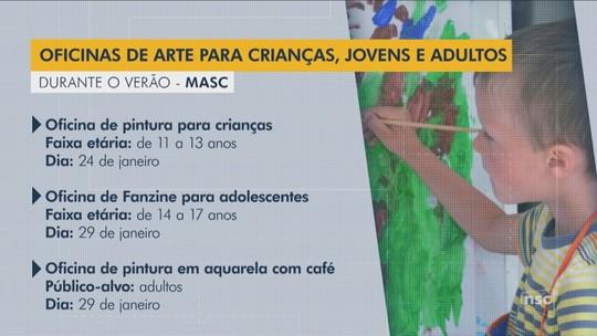 Museu de Arte de SC está com inscrições abertas para oficinas gratuitas