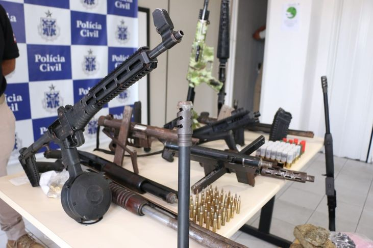 Nove armas de fogo são apreendidas por dia na Bahia, de janeiro a setembro de 2020