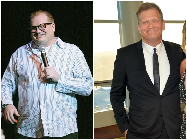 Drew Carey em 2004 e 2014 (Foto: Getty Images)
