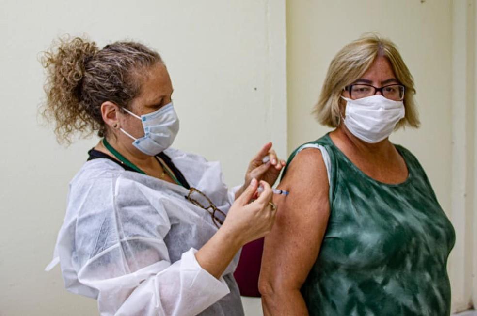 Prefeitura de Santa Cruz do Sul afirma que 14,88% da população já recebeu as duas doses do imunizante — Foto: Prefeitura de Santa Cruz do Sul/Divulgação