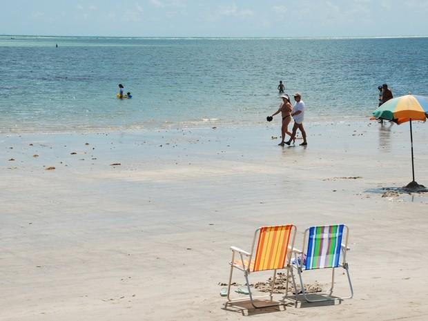 Praia de Camboinha, em Cabedelo, é o destino mais procurado pelos turistas (Foto: Felipe Gesteira/Jornal da Paraíba)