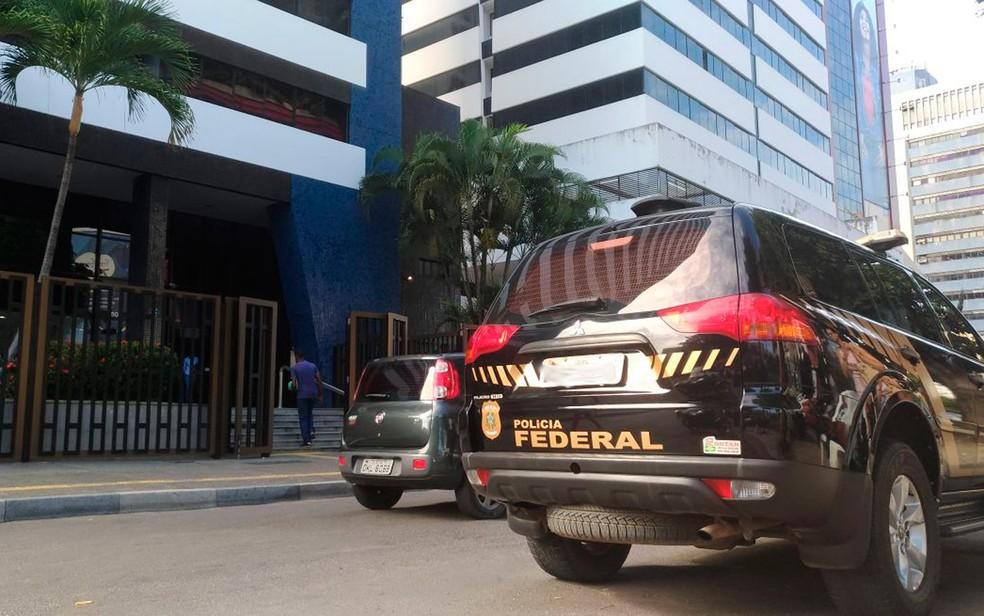 Agência Leiaute, em Salvador, é alvo da operação da PF (Foto: Juliana Almirante/G1)