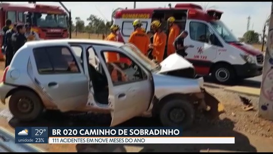 111 acidentes na BR 020 este ano