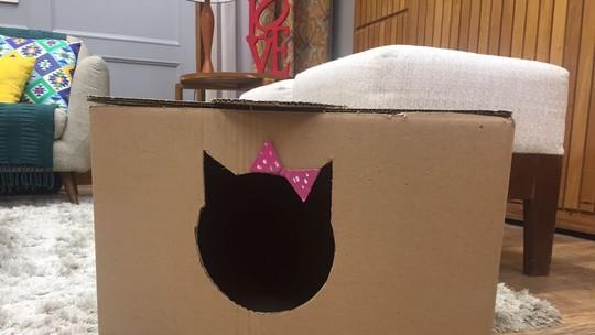 'É de Casa' ensina a fazer uma caixa de areia para gatos