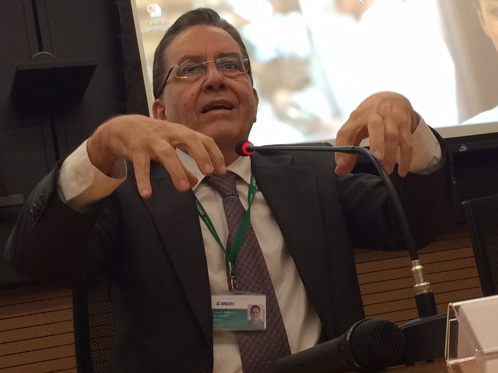 O presidente do BNDES, Paulo Rabello de Castro (Foto: Darlan Alvarenga/G1)