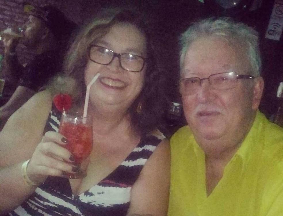 Marta e Deomero saíram de Santa Maria, onde residiam, para a Praia do Cassino, na tarde de sexta-feira. Casal deixa duas filhas e um neto (Foto: Arquivo Pessoal)