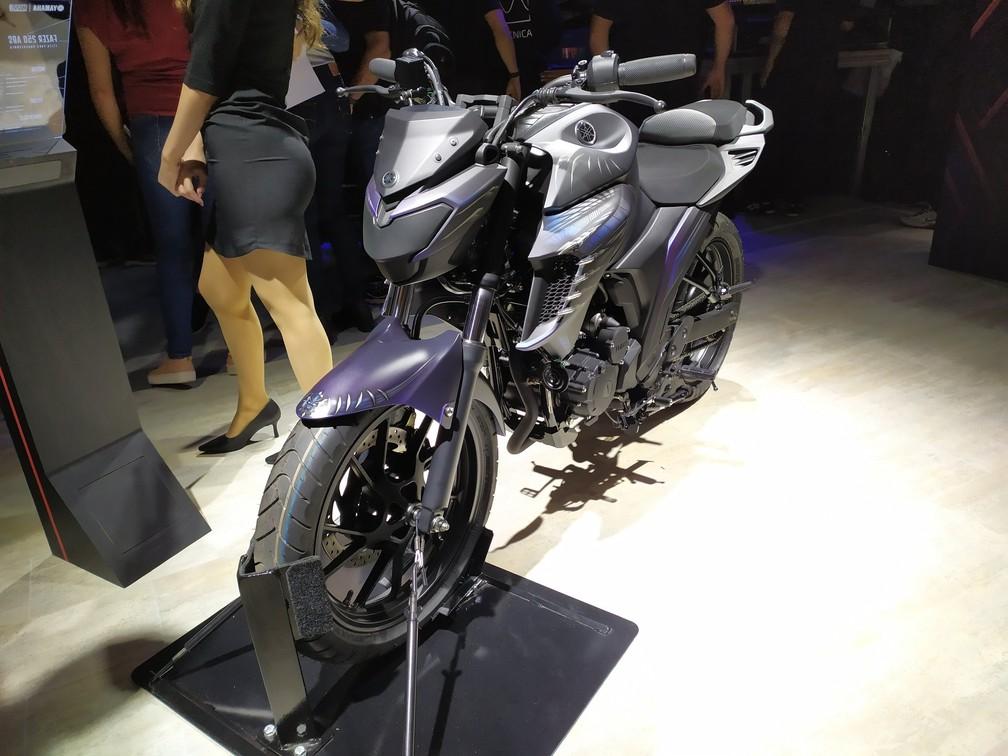 Yamaha Fazer 250 inspirada no Pantera Negra — Foto: Guilherme Fontana/G1
