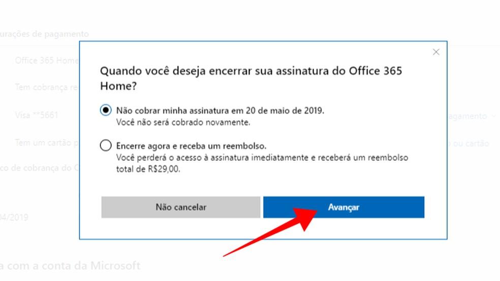 Cancele imediatamente ou no fim do ciclo de pagamento — Foto: Reprodução/Paulo Alves