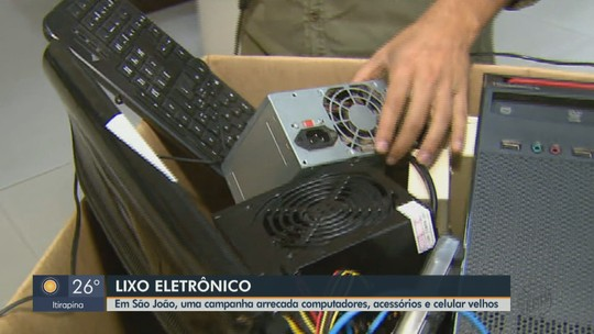 Campanha arrecada lixo eletrônico para ajudar idosos de asilo em São João da Boa Vista