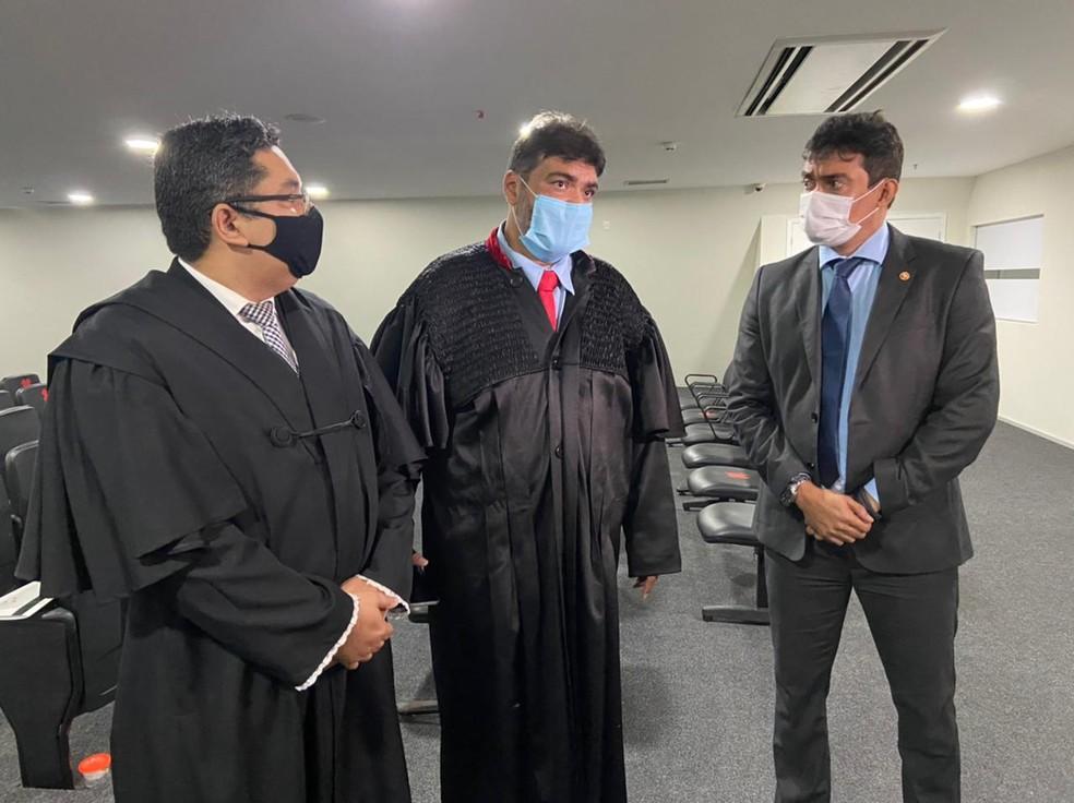 Marco Aurélio, promotor de justiça do Ministério Público do Maranhão (MP-MA), reforçou que o órgão vai continuar pedindo que Lucas Porto seja condenado com pena máxima — Foto: Rafaelle Fróes/G1