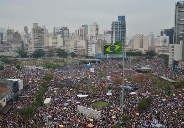 Manifestação Mulheres contra Bolsonaro no Largo da Batata, em São Paulo, em 29 de setembro de 2018 (Foto: Rovena Rosa/Fotos Públicas)