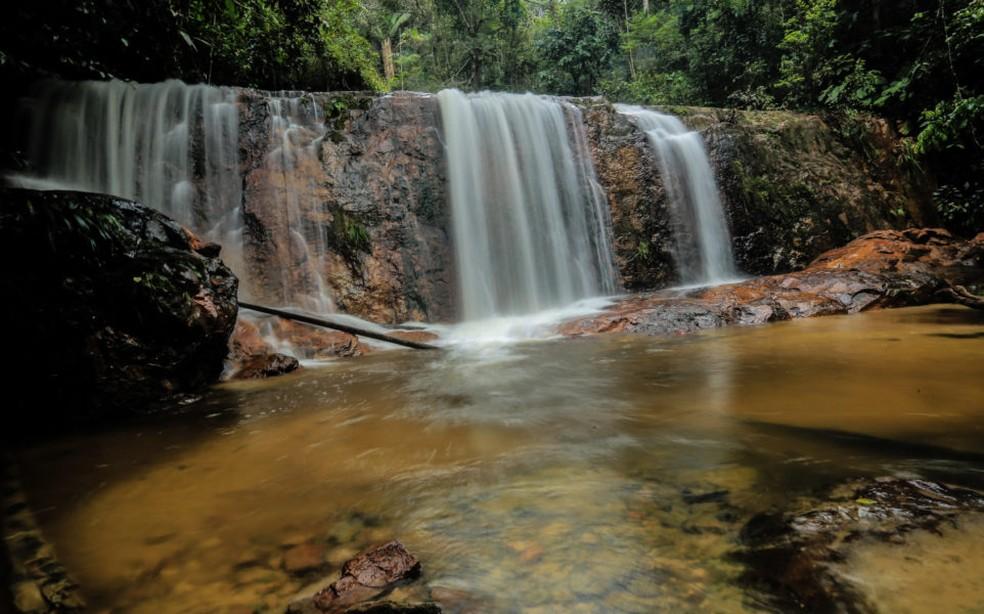 Cachoeira Formosa na Serra do Divisor, no Acre  — Foto: Marcos Vicentti/Secom