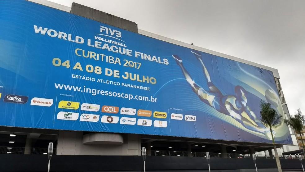 3d057547d5 ... Liga Mundial de Vôlei será disputada na Arena da Baixada — Foto   Monique Silva