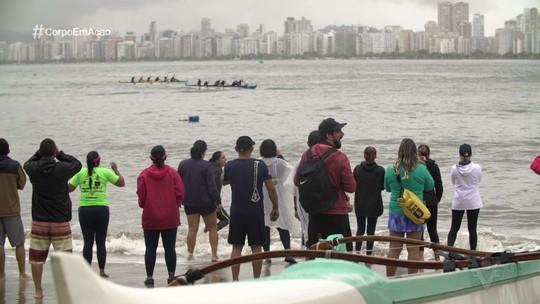 3º Campeonato de Canoa Caiçara Va'a é realizado em Guarujá