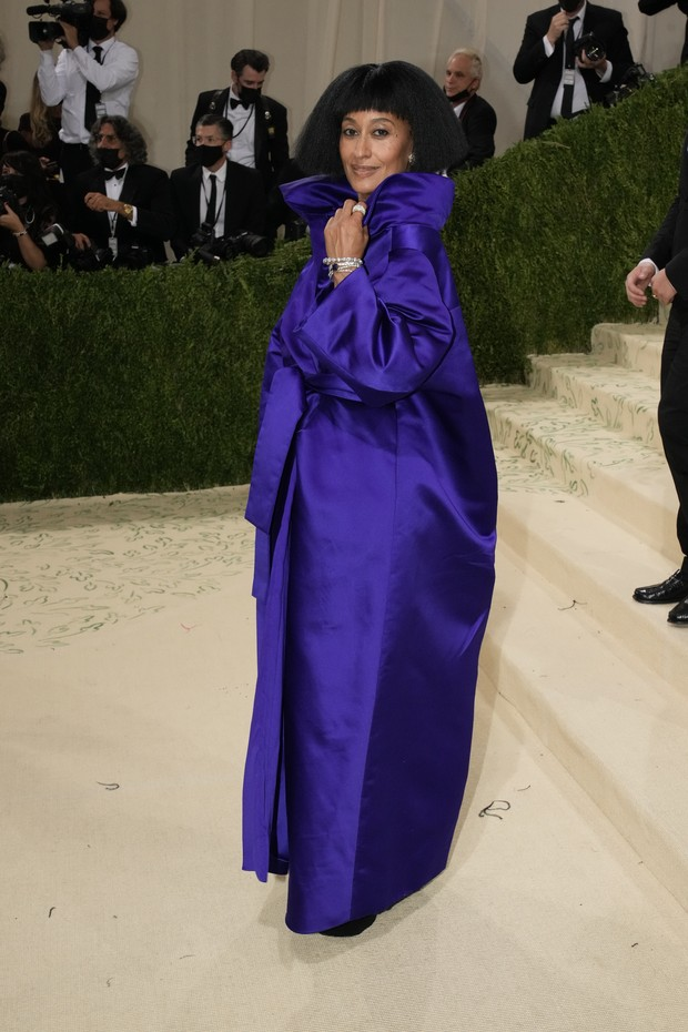 NEW YORK, NEW YORK - SEPTEMBER 13: Tracee Ellis Ross attends The 2021 Met Gala Celebrating In America: A Lexicon Of Fashion at Metropolitan Museum of Art on September 13, 2021 in New York City. (Photo by Jeff Kravitz/FilmMagic) (Foto: FilmMagic)