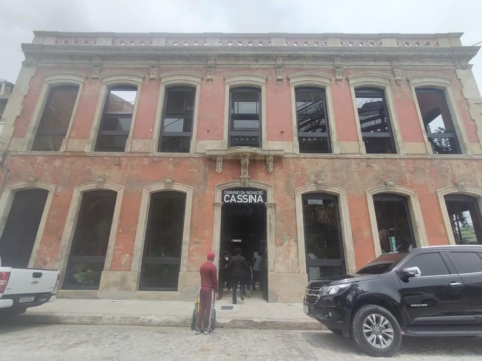 Antigo Hotel Cassina foi transformado em centro de empreendedorismo — Foto: Eliana Nascimento/G1