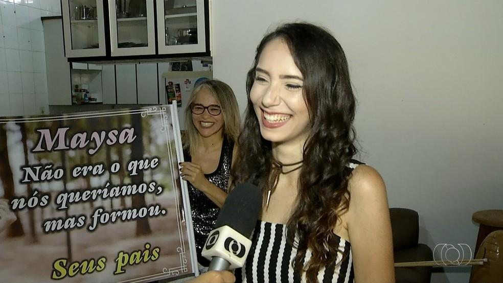 Mãe diz que frase tem 'fundinho de verdade' (Foto: Reprodução/TV Anhanguera)