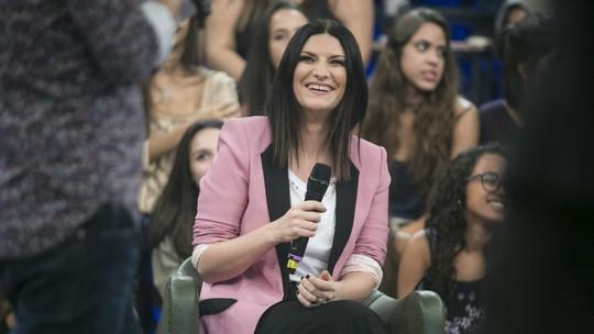 Laura Pausini faz revelações curiosas no 'Altas Horas'