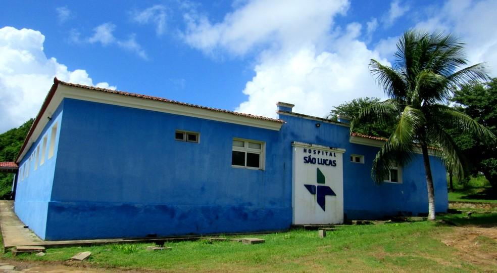Hospital São Lucas, em Fernando de Noronha — Foto: Ana Clara Marinho/G1