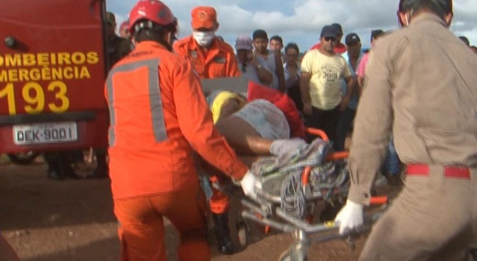 Tiroteio deixa mortos e feridos no interior do Pará. — Foto: Reprodução / TV Liberal