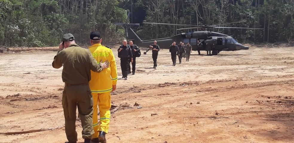 Israelenses chegaram na Jacundá no sábado — Foto: Exército Brasileiro/Divulgação