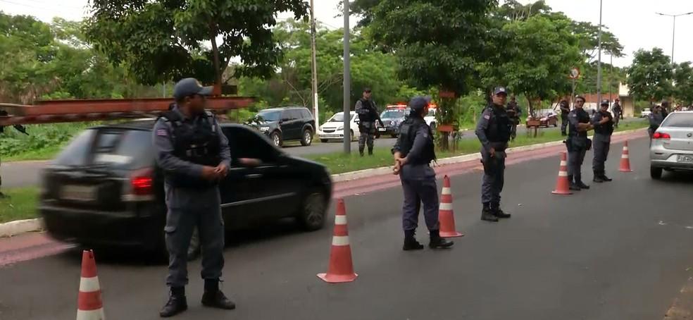 Polícia realiza operação de combate a criminalidade no Maranhão — Foto: Reprodução/TV Mirante