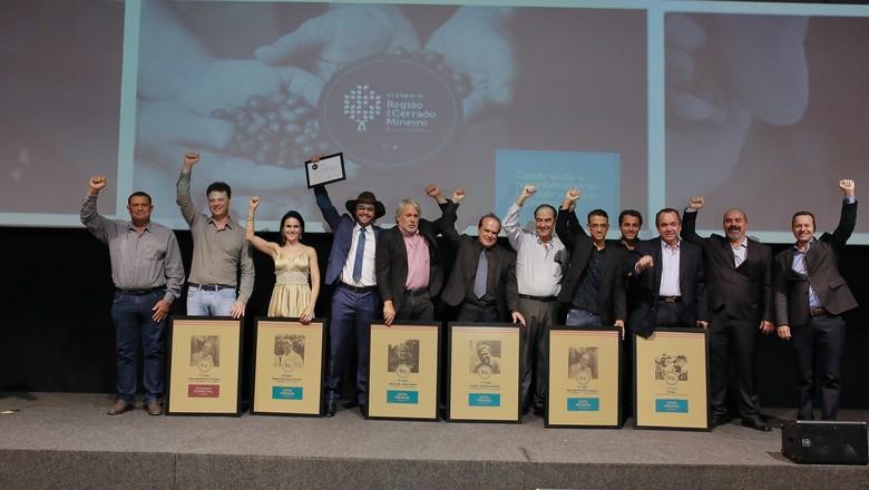 Vencedores do VI Prêmio Região do Cerrado Mineiro (Foto: Divulgação)