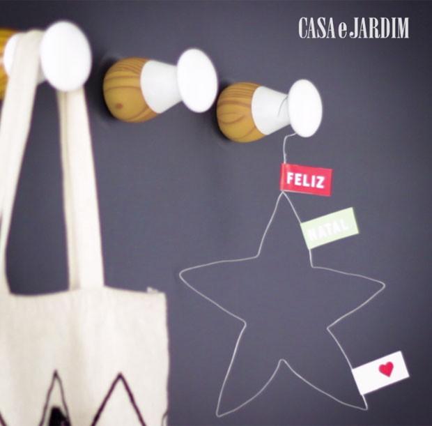 Faça você mesmo uma estrela de Natal (Foto: Casa e Jardim)