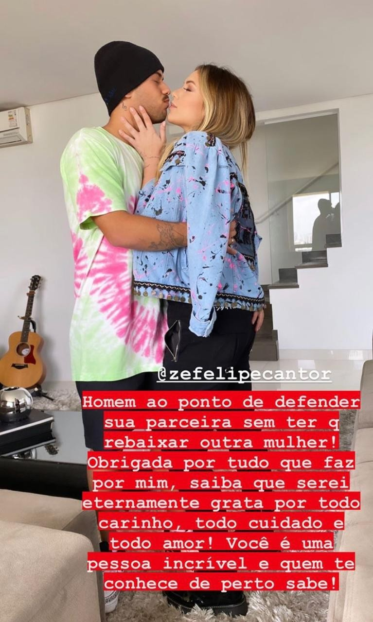 Virgínia agradece apoio do namorado Zé Felipe (Foto: Reprodução Instagram)