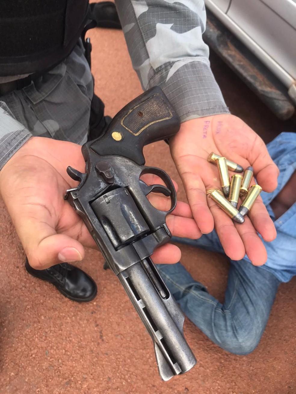 Arma usada para matar advogado em Juara foi apreendida — Foto: Polícia Militar de Mato Grosso/Divulgação