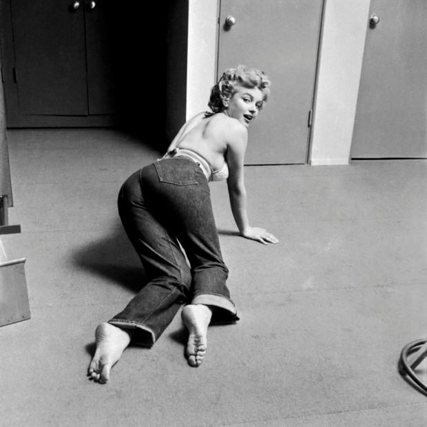 Marilyn Monroe também era fã dos jeans (Foto: Divulgação)