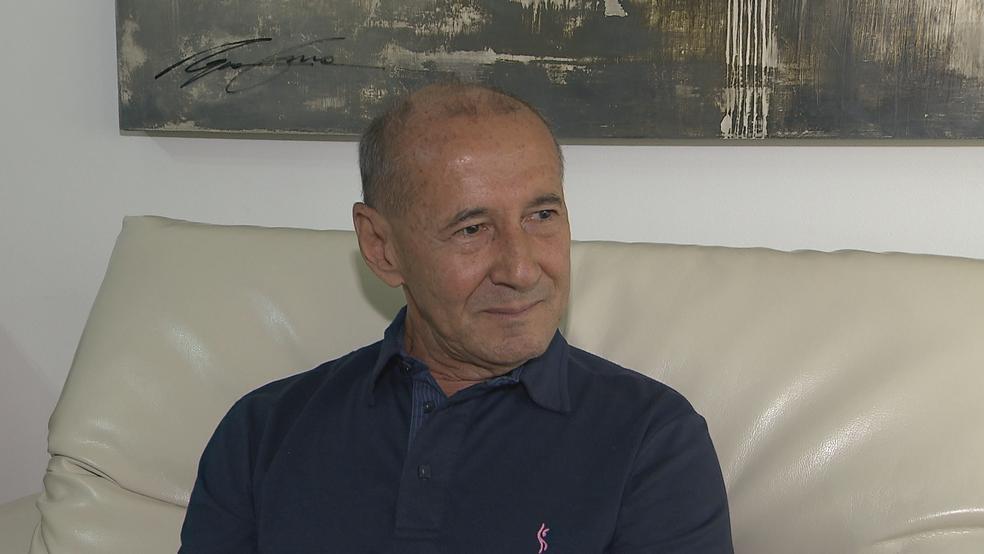 O aposenta Weligton Mota, que teve câncer de próstata (Foto: TV Globo/Reprodução)