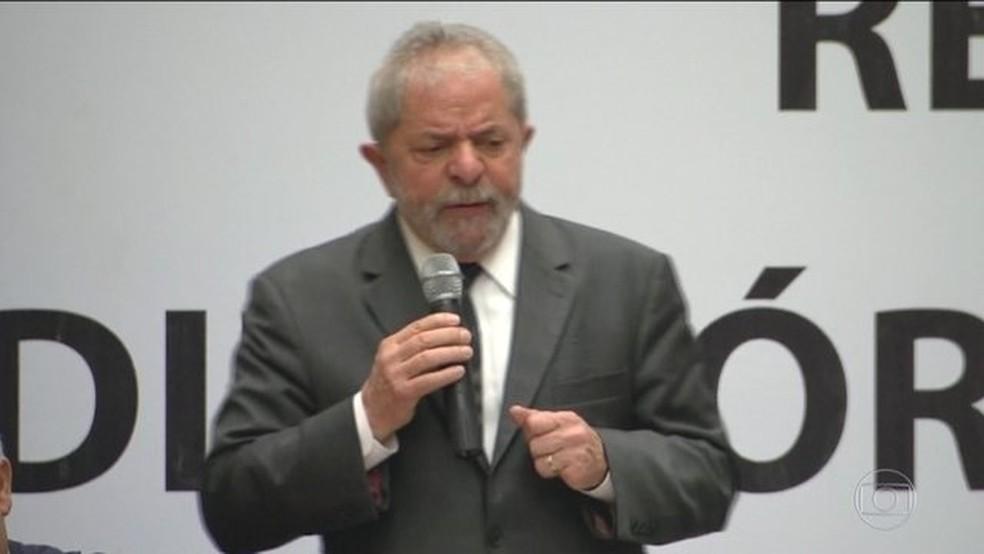 O ex-presidente Luiz Inácio Lula da Silva (Foto: Reprodução/JN)